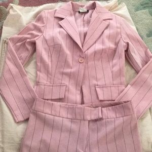 Other - Pink with black pinstripe suit